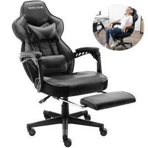 Gaming Chair Recliner Office Computer Desk High back Swivel Executive Pu Leather