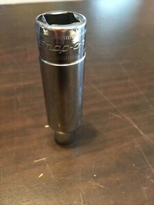 Snap On 1 2 Drive 6pt Chrome 10mm Deep Socket Great Cond Tsm10