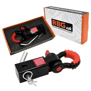 Bbg4x4 2 Trailer Hitch Receiver Shackle With D Ring