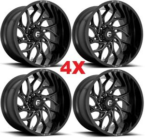 22x12 Fuel Runner Wheels Rims Gloss Black 2500 3500 Ram F 250 F 350 D741