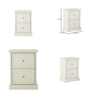 Royce Polar White Wood 2 Drawer File Cabinet 23 5 In W X 31 In H