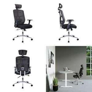 Technimobili Black High Back Executive Mesh Office Chair With Armslumbar Support