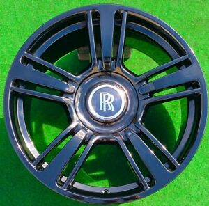 Factory Rolls Royce Black Wheels 21 Inch Genuine Oem Dawn Wraith Ghost Phantom 4