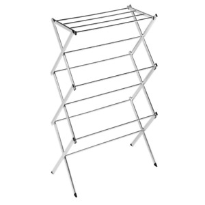 41 5 In H X 22 5 In L X 15 In W Commercial Chrome Accordion Drying Rack 18 li