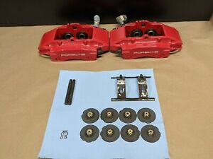 00 12 Porsche Cayman S Boxster S 986 987 Rear Brake Calipers Brembo Pair Red
