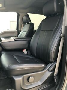 2015 2020 Ford F 150 Xlt Supercab Black Leather Seat Covers Lariat Factory style