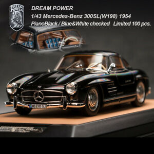 Dreampower 1 43 Mercedes benz 300sl 1954 Black Car Model Limited Collection