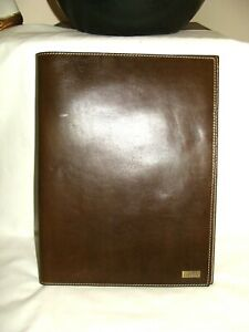Cabela s Rare Dark Brown Cowhide Letter Size Document Portfolio Pad Binder
