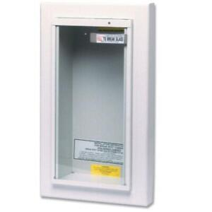 Kidde Fire Extinguisher Cabinet Semi Recessed 10 Lbs Tempered Security Glass