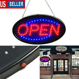 Ultra Bright Led Open Sign Neon Light Animated Motion Flash Business Ad Board Us