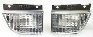 1979 1981 Firebird Or Trans Am Front Parking Light Kit Lens W Housings Pair