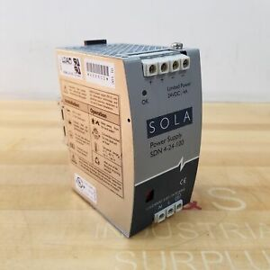 Sola Sdn 4 24 100 Power Supply 24vdc 4 Amp Used