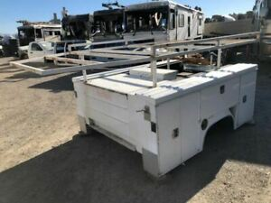 Used 8 Ctec Utility Service Bed Body Box W Tommy Lift Gate 05 Silverado 2500