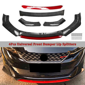Carbon Fiber Universal Car Front Chin Bumper Lip Spoiler Splitter Scratch Guard