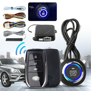 Car Alarm Start Security System Keyless Entry Push Button Remote Fit For Toyota