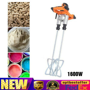 1600w Double Paddle Electric Plaster Concrete Cement Mortar Mixer Mixing Mortar