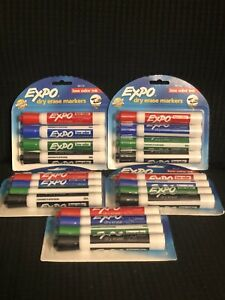 Expo Dry Erase Markers Low Odor Chisel Tip Assorted 20 Count 80174 Whiteboard