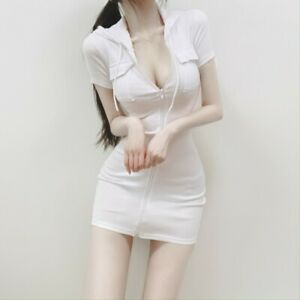 K Fashion Women Simple Hot Sexy Daily Short One Piece Hoodie POPO Hoodie OPS $59.70