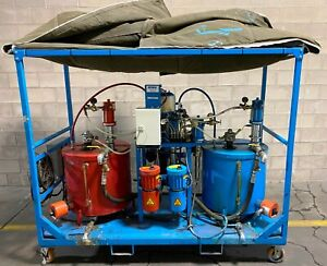 Wiwa Airless Paint Spray System Large Capacity 32 Gallon Tanks Self Contained