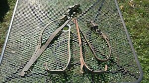 Vintage Lineman s Pole Climbing Spikes Gaff Adjustable With Leather Straps