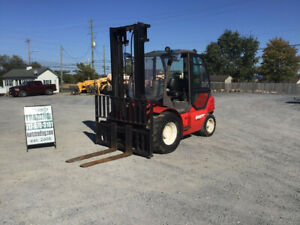 2007 Manitou Msi50h 10000lb Rough Terrain Diesel Forklift W Cab Only 2500hrs