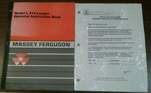 Massey Ferguson Model L 210 Loader Operators Manual And Installation Checklist
