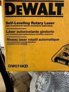 Dewalt 150 Ft Red Self leveling Rotary Laser Level With Detector Clamp Wall