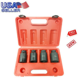 4pc 1 2 Dr Deep Spindle Axle Nut Socket Set 12 Point Metric 30mm 32mm 34mm 36mm