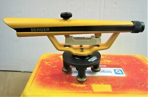 Berger Instruments Usa Model No 135 Transit Site Survey Level With Case