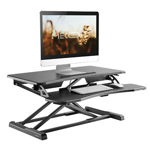Height Adjustable Laptop Computer Desk Portable Table Stand Desk Converter Black