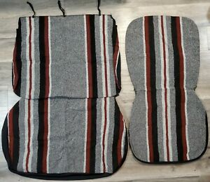 Vintage Fashion Magic Truck Split Bench Seat Covers Red Black Gray Tweed