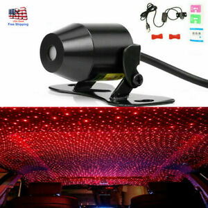 Xmas Car Interior Ceiling Usb Atmosphere Led Star Light Sky Red Laser Projector