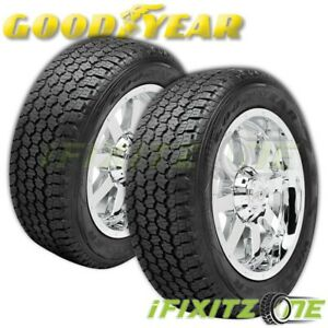 2 Goodyear Wrangler A T Adventure With Kevlar 265 70r16 60k Mile Warranty Tires