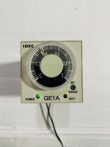 Idec Ge1a c10ha110 Electronic Timer 120vac used Good Condition