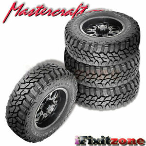 4 Mastercraft Courser Mxt Lt315 70r17 Owl D 8 All Terrain Mud Tires