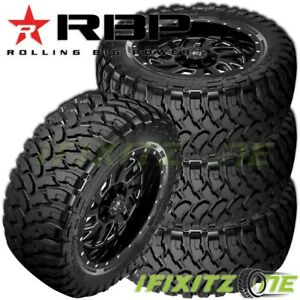 4 New Rbp Repulsor M t 35x12 50r20lt 121q 10 ply Off road Jeep truck Mud Tires