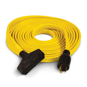 Champion Power Equipment Generator Extension Cord Cable 25 Ft 125 Volt Fan Flat