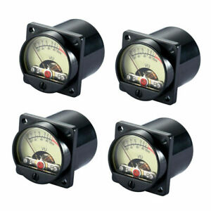 4 Pieces Vintage Analog Vu Panel Meter Audio Level Amp With Back Light Tr 35