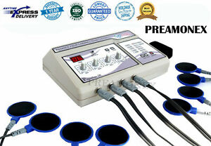 New Electrotherapy 4 Channel Pain Relief Pulse Massager Physiotherapy Machine Pl