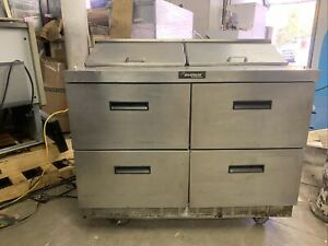 Delfield 48 4 Drawer Sandwich Prep Table Cooler Used