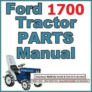 Ford 1700 2 Cylinder Compact Diesel Tractor Illustrated Service Parts Manual