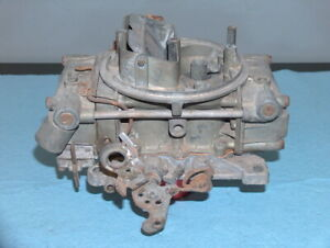 1965 1966 Chevy 396 Chevelle Holley 4 Barrel Carburetor 3140 1 For Parts 593