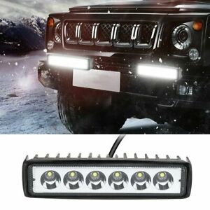 6inch 18w Led Work Light Bar 4wd Offroad Spot Pods Fog Atv Suv Driving Lamp New