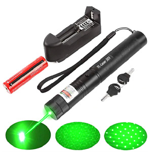 500mile 532nm 303 Laser Pointer Visible Beam Light Lazer Pen 18650 charger