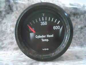 Vdo Cylinder Head Temperature Gauge Cht 6 12v Vw Porsche Cockpit Black