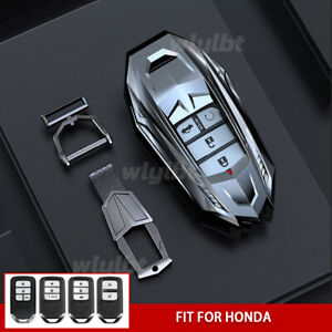 Zinc Alloy Car Smart Key Fob Case Holder For Honda Accord Civic Fit Pilot Crv