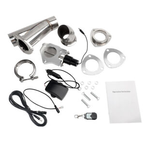 2 5 63mm Remote Electric Exhaust Catback Downpipe Cutout E cut Out Valve System