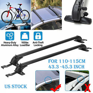 Universal Car Top Roof Rack Cross Bar 43 3 Luggage Carrie Adjustable Aluminum