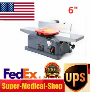 6 High speed Steel Benchtop Jointer Planer Woodworking Planers With 2 Handle
