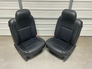 2017 2020 Ford F250 F350 F450 Super Duty Front Seats Black Leather
